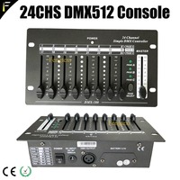 Mini 24 Channels Simple DMX Controller 24CHS Stage Dj Disco Light Fader Console with Chargeable Lithium Battery