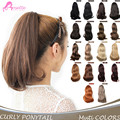 Fake Hair Ponytail Appl Synthetic  Curly Wavy Claw Drawstring Clip False Ponytails Natural Hair Extension Tress Hairpieces