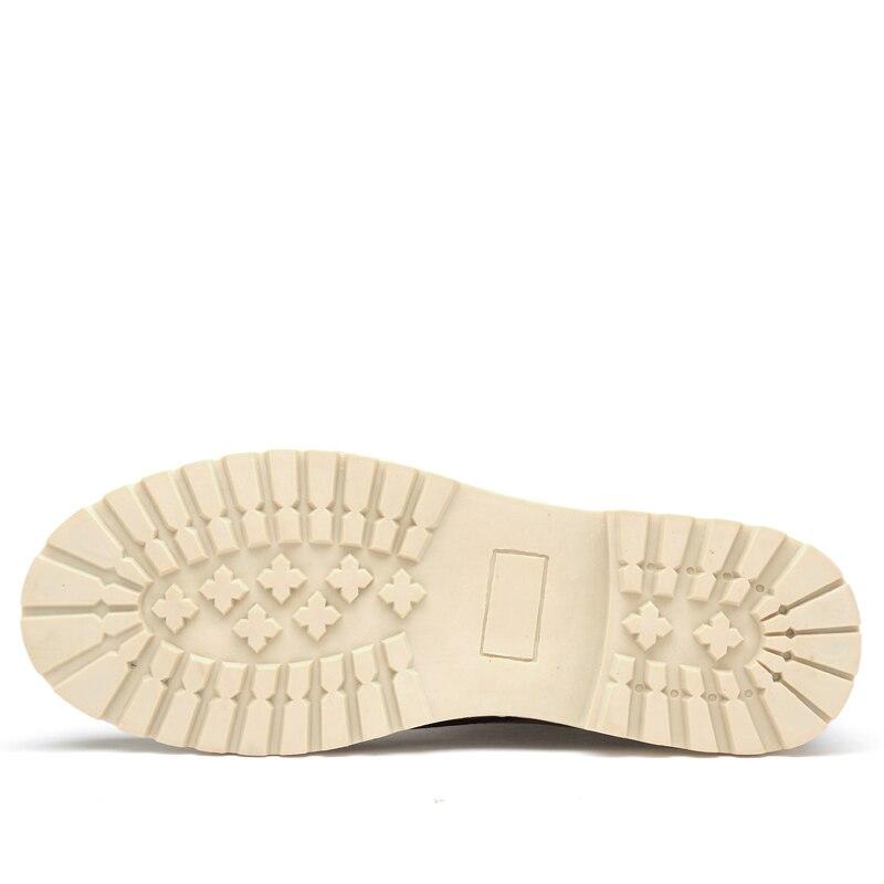 Chaussures Hommes Chaud Imperméables Neige Taille gris 2018 En De Caoutchouc Rétro Angleterre D'hiver Bottes jaune Loisirs Cuir Marque Marron Grand Dudeli Super qzaBItn