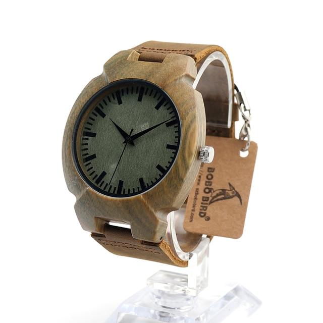 BOBO BIRD I10 Wood Watch Men Size 45mm Green Turtle Shape Wooden Wristwatch Mens Quartz-watch in Gift Box men watches 2016