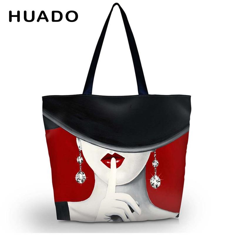 women Shopping Bag female Foldable Grocery Large reusable Packing storage Bag Beach Tote Shoulder Bag