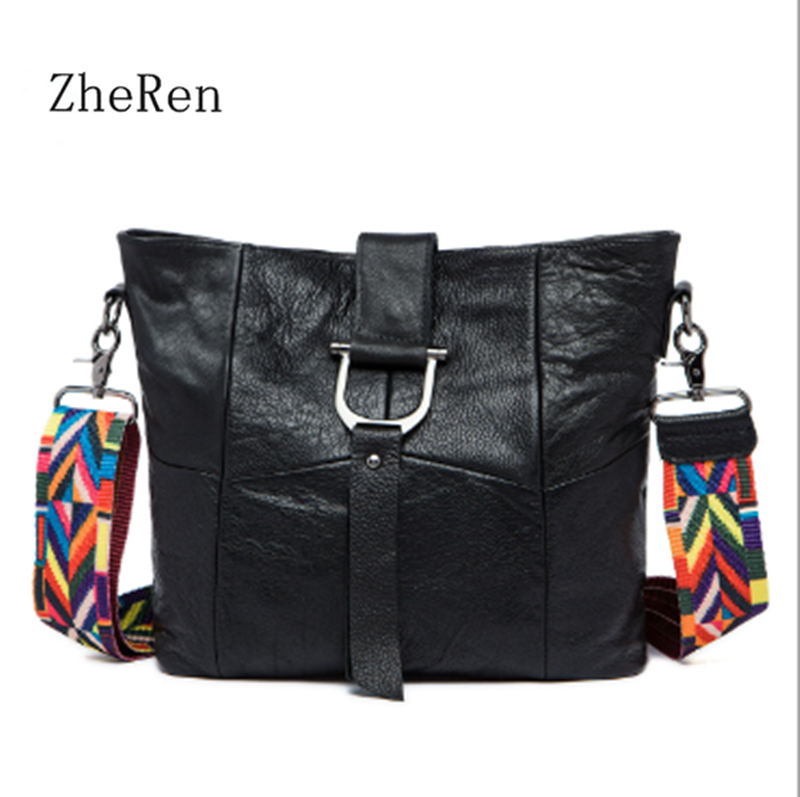 2017 new leather shoulder bag Genuine leather women bag stitching diagonal fashion ribbon bucket bag new brand genuine leather women bag fashion retro stitching serpentine quality women shoulder messenger cowhide tassel small bag