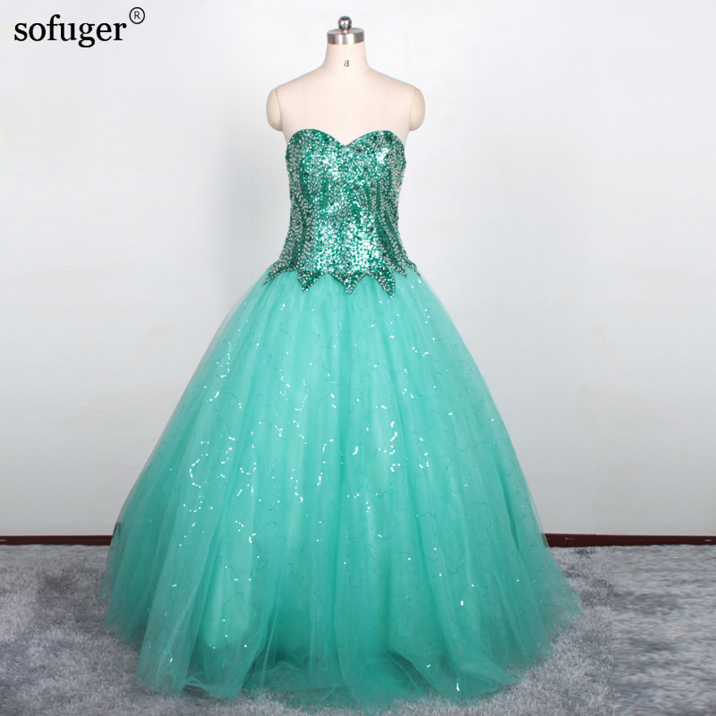 ⊰Hot Selling Ball Gown High Quality Crystal Beading Quinceanera ...