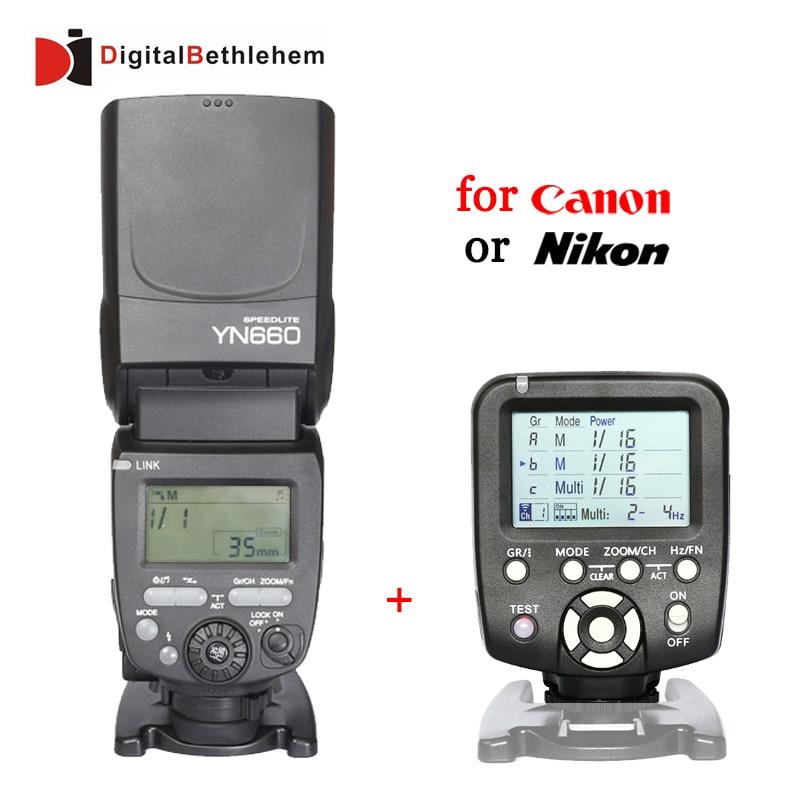 Prix pour Yongnuo YN660 + YN560-TX Kit pour Canon Nikon Flash Speedlite GN66 2.4 GHz Sans Fil 1/8000 s Maître