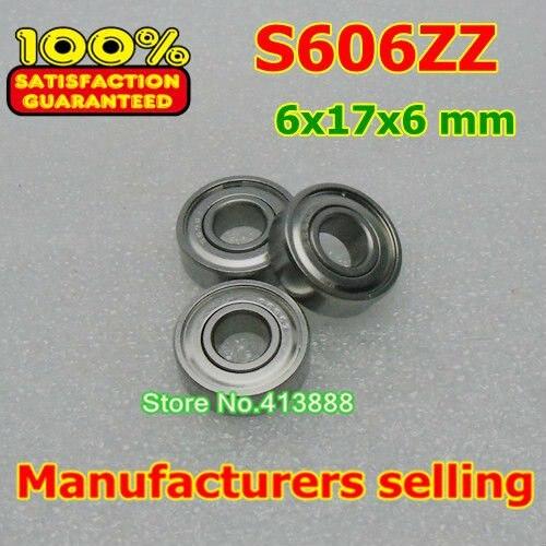 10 шт./лот высокого качества ABEC-1 Z2V1 SUS440C нержавеющей стали шарикоподшипники S606ZZ 6*17*6 мм