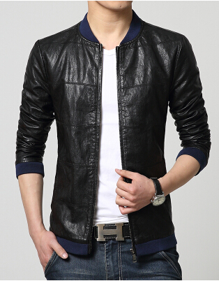 Free ShipPing font b Men s b font Jacket Han Edition Cultivate One s Morality Collar