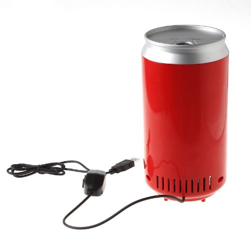 Mini USB PC Fridge Beverage Drink Cans Cooler & Warmer Red 2016 New mini red bull cooler and warmer
