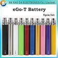Melhor cigarro e bateria Ego t Bateria multicolor bateria 650 mah 900 mah 1100 mah para o Cigarro Eletrônico E-cig Kit 5 pçs/lote