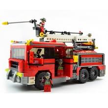 Ausini 21702 kits de edificio modelo de la ciudad de fuego 627 bloques 3d modelo educativo y juguetes de construcción aficiones compatible con leping diy