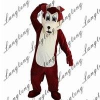 2018 Новая горячая распродажа коричневый волк собака костюм талисмана взрослых Размеры Хэллоуин наряд Необычные платья Костюм Бесплатная до