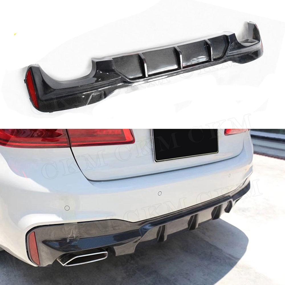 3D Style ABS Rear bumper Lip Diffuser Gloss Black For 5 Series G30 G31 M-Tech