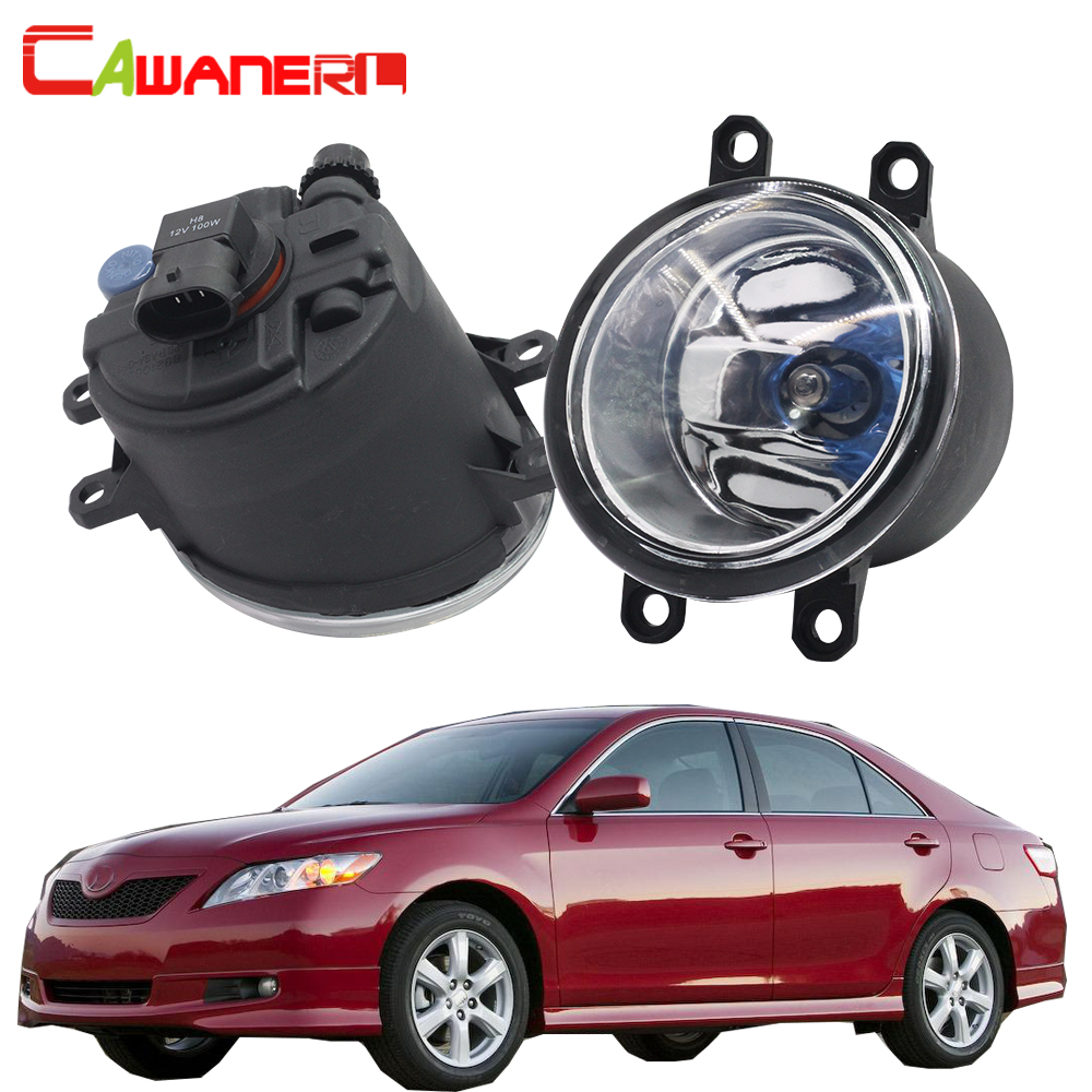 Cawanerl For Toyota Camry 2007-2012 2 Pieces 100W H11 Car Halogen Fog Light DRL Daytime Running Lamp Warm White 12V High Power cawanerl for toyota highlander 2008 2012 car styling left right fog light led drl daytime running lamp white 12v 2 pieces