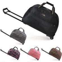 Bolsa de equipaje con ruedas para hombre y mujer, bolso de viaje con ruedas