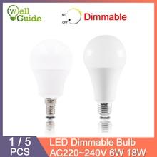 1 ШТ. / 5 ШТ. Светодиодные лампы E27 E14 с регулируемой яркостью светодиодные лампы Реальные 20 Вт