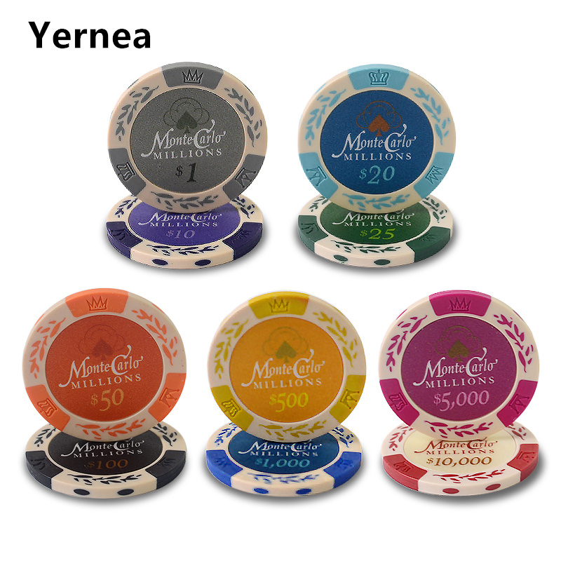 25pcsset wheat dollar coins texas holdem clay poker chips upscale set g color - Poker Sets