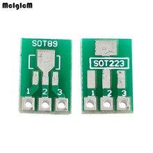 McIgIcM 100 шт. SOT89 SOT223 к DIP печатной платы передачи DIP Pin доска шаг адаптер keysets