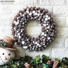 Снежный Noel венок Natale Frozen рождественские украшения Navidad домашний декор венки ручной работы дверной венок украшение для свадебной вечеринки