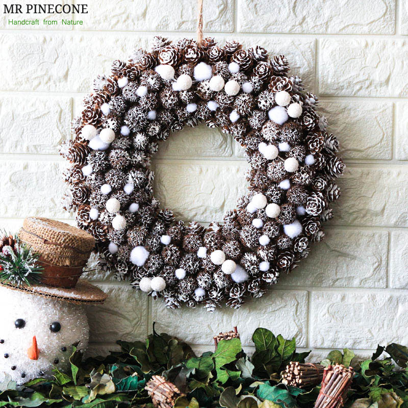 Neve noel grinalda natale congelado decorações de natal navidad casa decoração grinaldas artesanato porta grinalda festa de casamento decoração