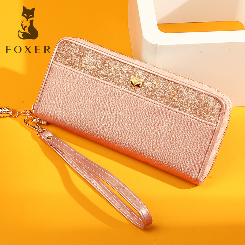 FOXER Purse Female Long Wallet High-Quality Women's Phone-Bags Fashion Ladies Brand
