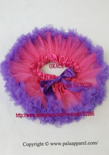 Юбка-пачка Одежда для маленьких девочек; нарядная одежда; юбка-пачка балетная юбка, пачка летняя одежда аксессуары для фотографирования новорожденных, ярко-розовым шифоном - Цвет: purple ruffled