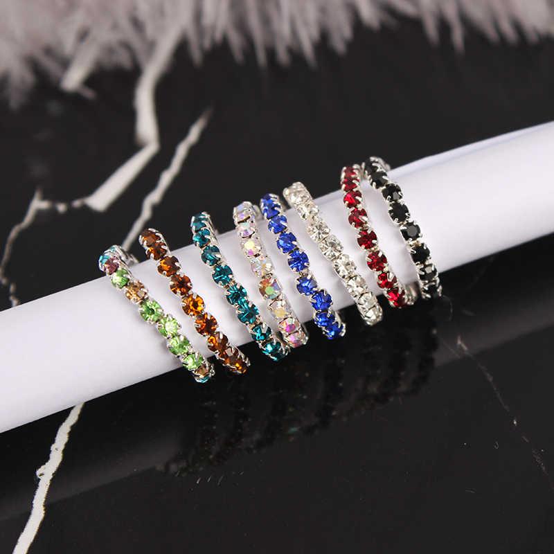 13 couleurs Europe américaine mode plage strass orteil anneaux été Sexy charme traction élasticité pied anneau bijoux