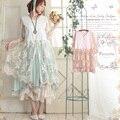 Japonês sweet rendas de proteção solar camada floral ocasional das mulheres patchwork bonito kawaii feminino camisa cardigan mori menina c214