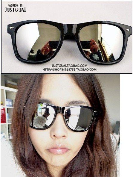 265477772ee0 Free shipping hot sell fashion Mercury reflective sunglasses big square frame  glasses 1pcs lot wholesale