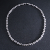 Hot Roman Luxury 2 75mm Cubic Zircon Inlay Charm Wedding Choker Necklace For Women Bride Wedding