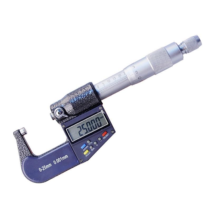 High quality 0 25 50 100mm Micron Digital outside Micrometer Electronic micrometer gauge 0.001mm Measuring & Gauging Tools