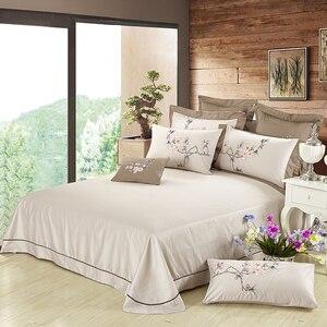 Роскошный комплект постельного белья коричневого цвета из хлопка с вышивкой, дизайнерский пододеяльник с цветочным рисунком королевского ...