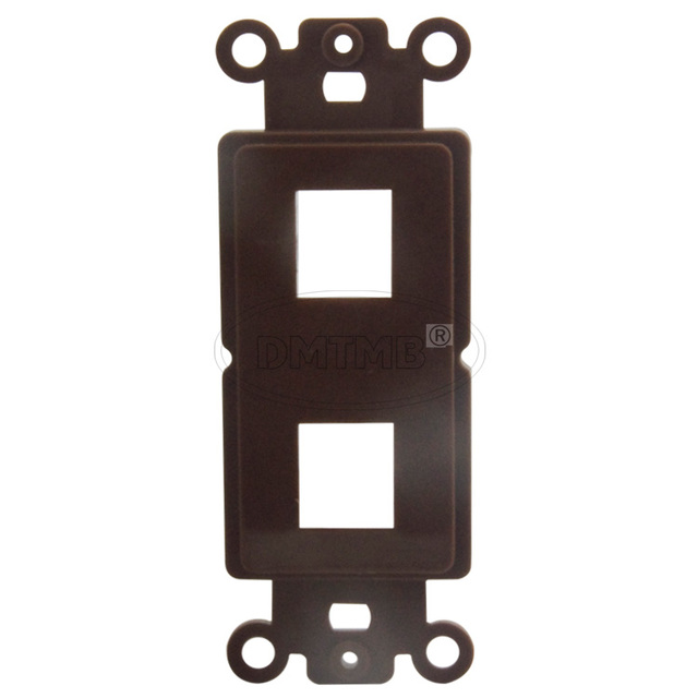 Superior 2 Keystone Ports Inner Wall Plate With Brown Color