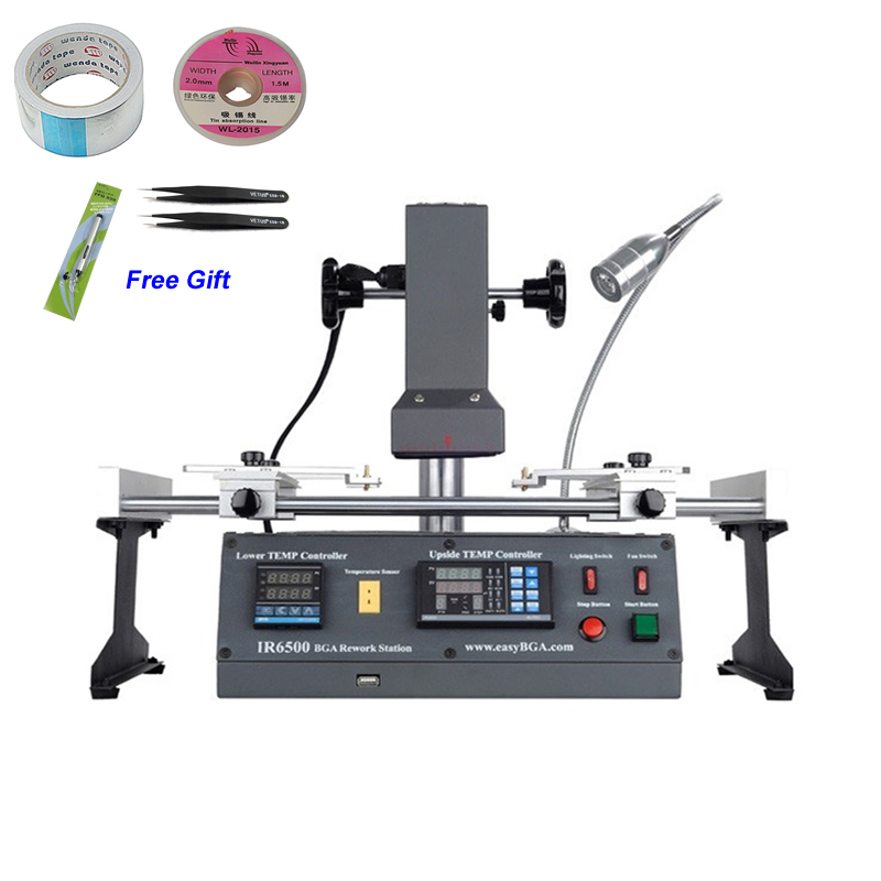 Infrared BGA Rework Station soldering machine Original ACHI IR6500 220V achi ir pro sc infrared bga soldering rework station for motherboard chip pcb refurbished repair machine