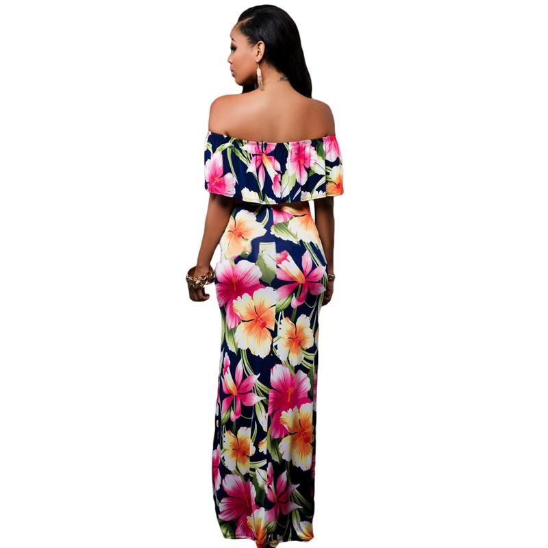 Zkess Tropical Print Dress Women Long Party Dresses 2017 Elegant Bohemia Dress Maxi Mermaid Gown Vestido de festa LC61189 21