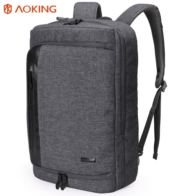 Aoking 2017 Nylon Men Backpack for laptop Large Capacity Multifunctional College Student School Backpack Waterproof Daily Bag