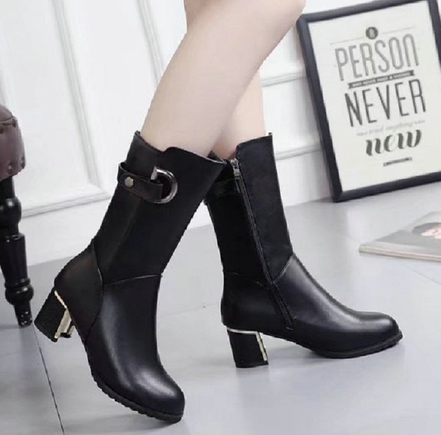 Size 35 40 2017 New Women Rain Boots Lady S Winter Office Las High