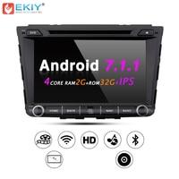 Ekiy 8 ''штатную gps навигации Системы для hyundai Creta IX25 2din Android 7,1 TDA7851 Стерео DVD Радио Видео плеер WI FI