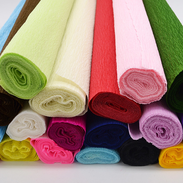 1 Roll 50 250cm Crepe Paper Flower Making Wrapping Diy Scrapbooking