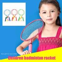 Движение ракетка для бадминтона портативный случайный цвет практичный ребенок прочный