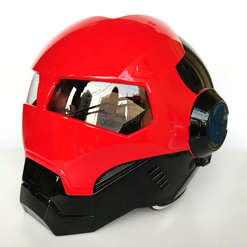 2018 MASEI ярко-красный/черный железный человек шлем мотоциклетный шлем половина шлем с открытым лицом шлем мотокросс красный 610 М L, XL