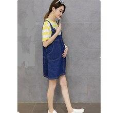 Новое платье юбка для беременных женщин джинсовая юбка для беременных Одежда для беременных женщин карман Одежда для беременных E0081