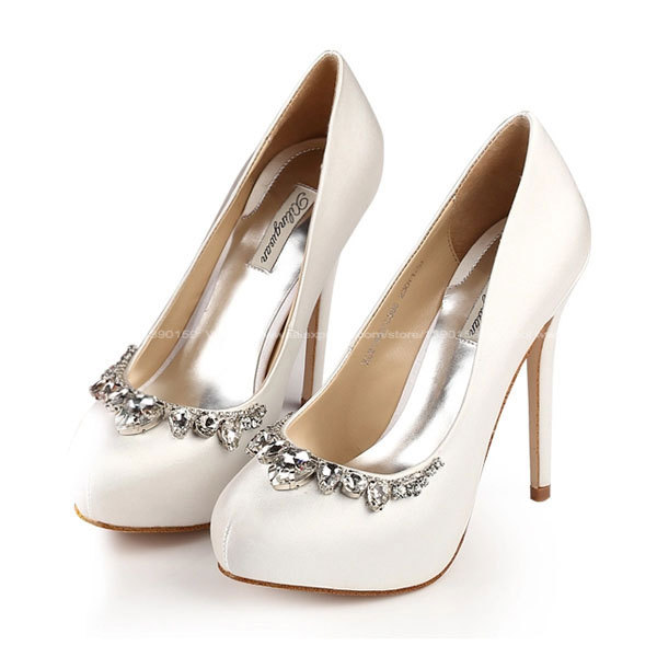 Aliexpress Buy 2015 Wedding Shoes Woman Rhinestone Ultra High Heels Luxury Silk Pump Women