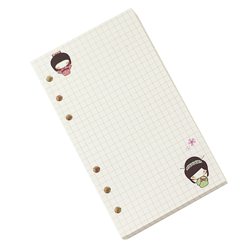 A6 Cute colorful diary refills spiral notebook replace color core loose leaf stationery gift school planner ring binder