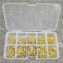 500 Pcs/Lot 3# -12# Carbon Steel Fishing Hook Fishhooks Durable Pesca Jig Head Fishing Hooks with Hole Carp Fishing Tackle Box