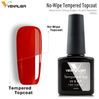 #70916 Venalisa nail art design make up super-flexible shinning long lasting high gloss no wipe tempered toughened glass topcoat