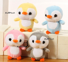 Kawaii 4Colors - Sweet 12CM Approx. Penguin Plush stuffed toy , key chain Penguin Gift wedding party plush Toy