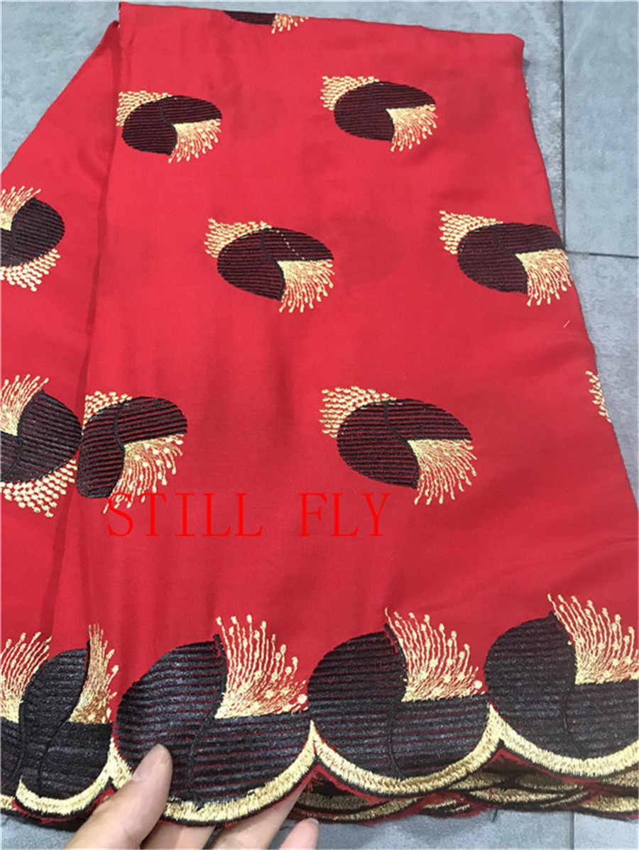 Tessuto di pizzo rosso 2019 di alta qualità del merletto del cotone del merletto a secco tissu africano di vendita calda merletto svizzero del voile in svizzera 5 + 2 yards/lot