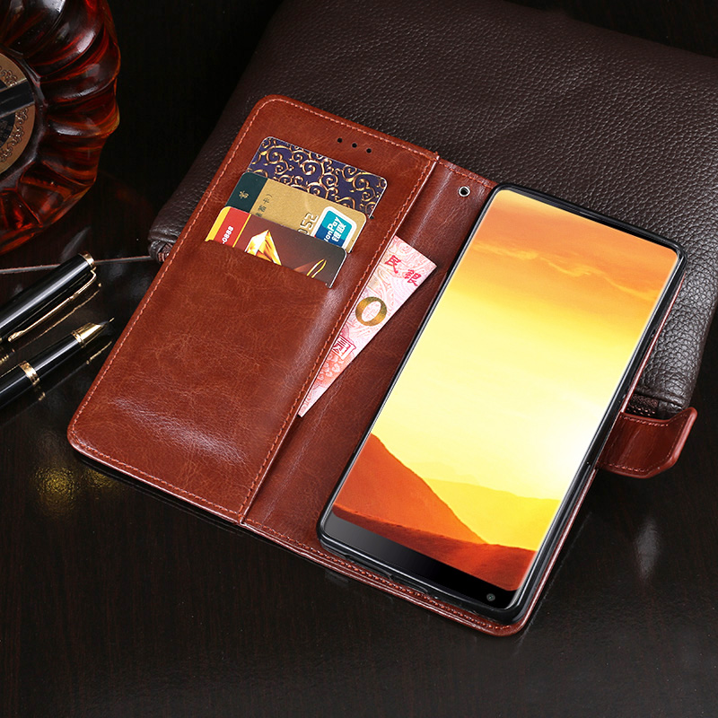 IDEWEI for VKworld S8 Case 5.99'' Business Style Stand Flip Wallet PU Leather Phone Coque Cover for VKworld S8 Case Accessories