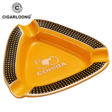 Cohiba Cigar Ashtray Classic Small Ceramic High-end COHIBA Creative Creamic Two Colors Holder 3 Rest CE-0025