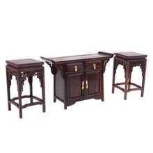 1/6 кукольный домик миниатюрная мебель деревянный шкаф/конец стол модель стула предметы комнаты дети ролевые игры