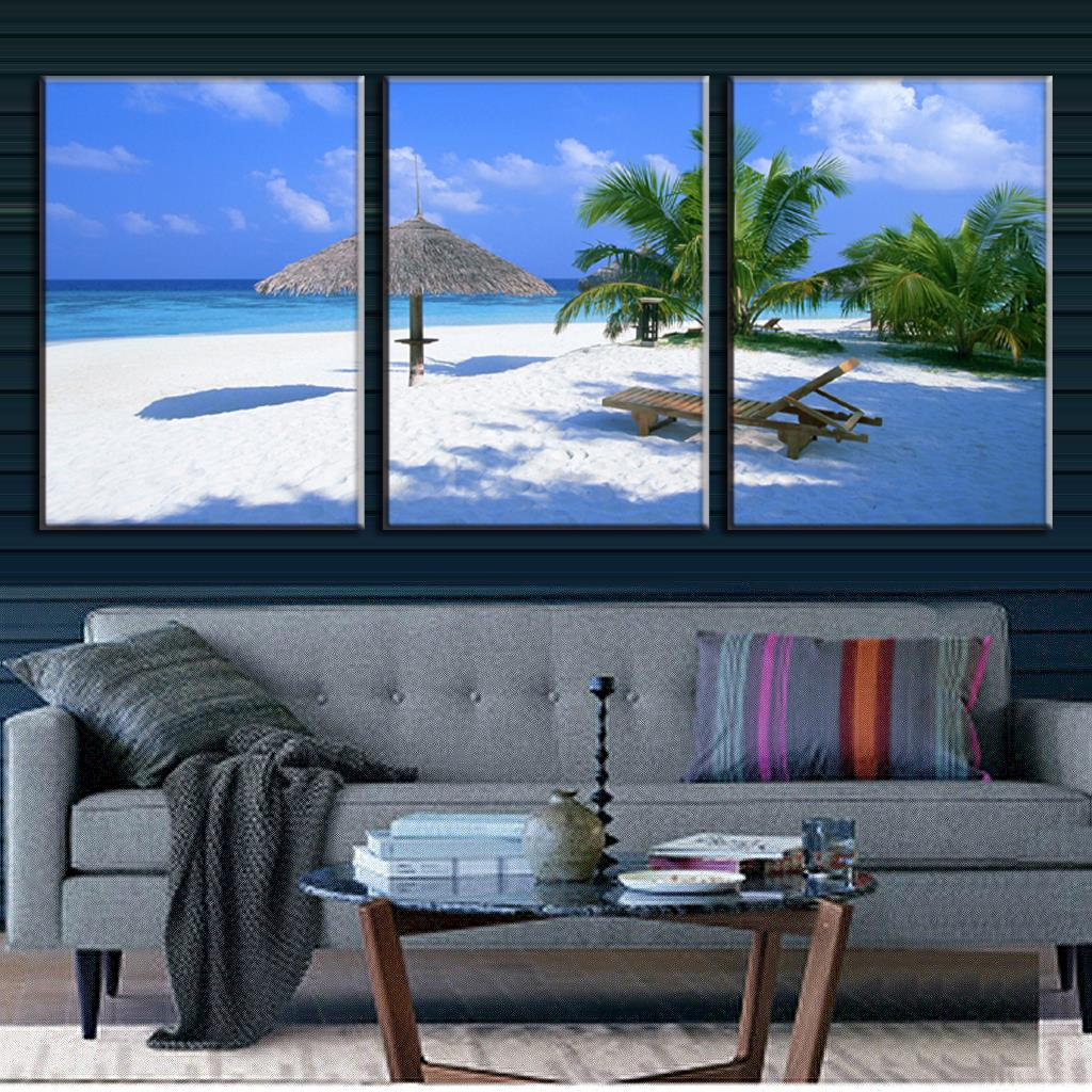 Home Decor 3 Panels Canvas Painting Wall Art For Living